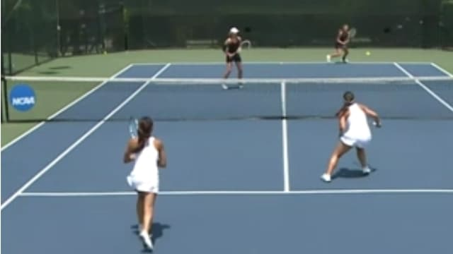 how to play the net in doubles tennis