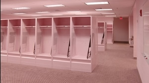 Traditions: Iowa's pink visitors' locker room