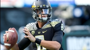 Hand Him The...Oregon's Marcus Mariota