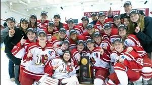 Plattsburgh State wins the 2015 DIII Women's Ice Hockey Championship