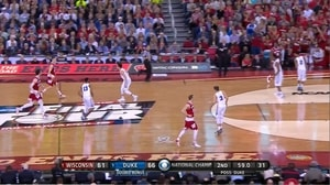 WIS vs. DUKE: N. Hayes dunk