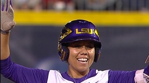 WCWS: LSU hangs on