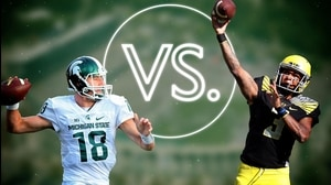 Versus: Michigan State Football-Connor Cook vs. Oregon Football-Vernon Adams