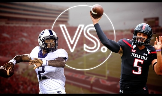 Versus: TCU Football-Trevone Boykin vs. Texas Tech-Football Patrick Mahomes