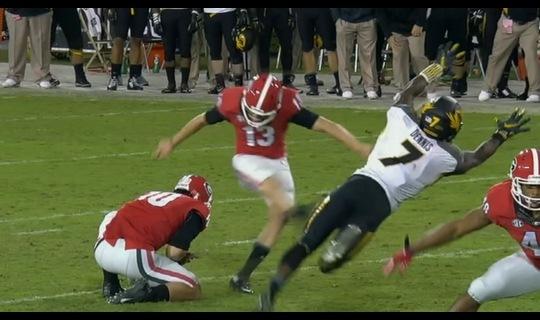 Georgia Football: Morgan's winning kick