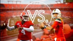 Versus: Clemson's Watson vs. Miami's Kaaya