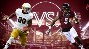 Versus: Notre Dame's Prosise vs. Temple's Thomas