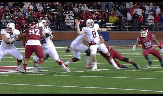 Wazzu Football: QB hit causes fumble