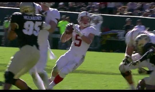 Stanford Football: McCaffery passing TD