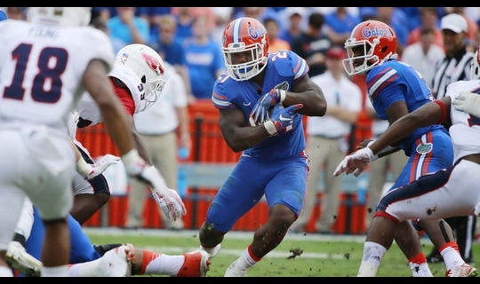 Florida Football: Taylor scores after fumble