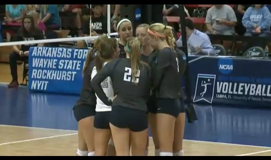 2015 DII Women's Volleyball Quarterfinal Full Replay:  Palm Beach Atlantic vs. NYIT