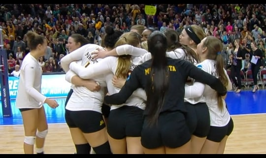 2015 DI Women's Volleyball: Minnesota bests Hawaii