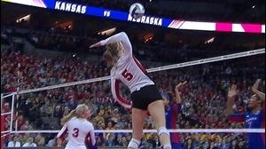 2015 DI Women's Volleyball: Nebraska tops Kansas