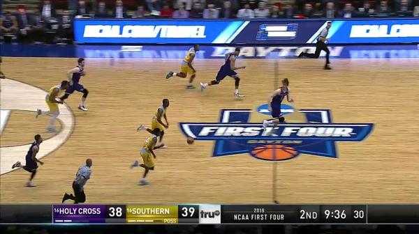 HC vs. SU: C. Thomas layup