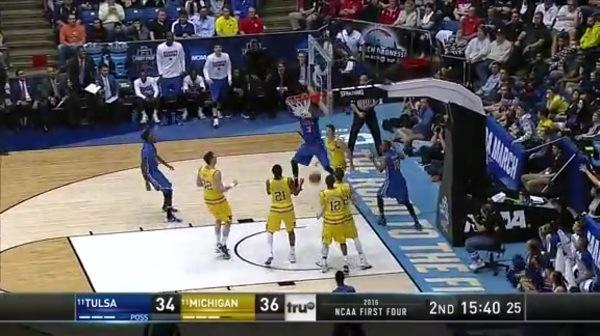 TULSA vs. UM: S. Harrison dunk