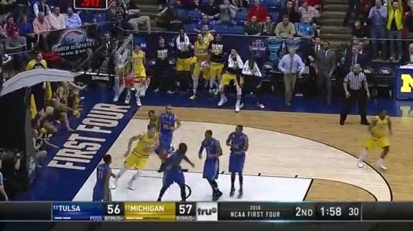 TULSA vs. UM: M. Wagner dunk