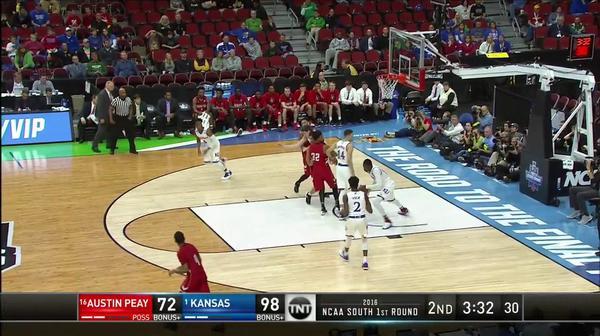 KAN vs. AP: Jayhawks hit 100