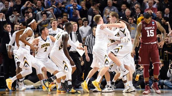 First Round: Iowa OT buzzer beater takes down Temple