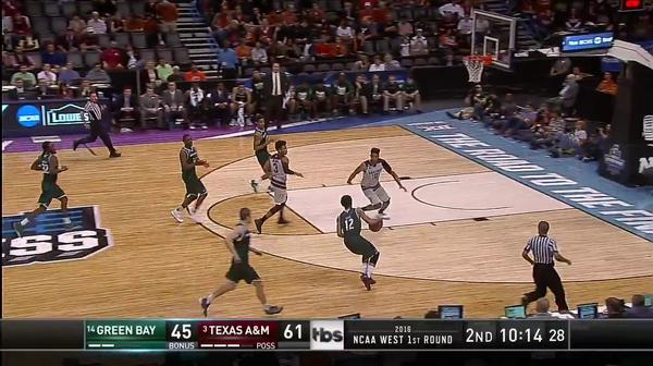 GB vs. TAMU: Back-to-back steals