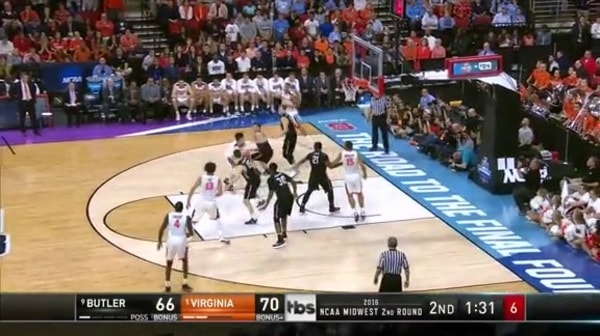 BUT vs. UVA: L. Perrantes layup