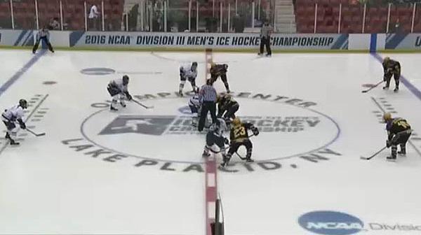 2016 DIII Men's Ice Hockey Semifinal: Wisconsin-Stevens Point vs. SUNY Geneseo Full Replay
