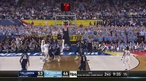 NOVA vs. UNC: I. Hicks layup