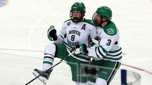 Frozen Four: North Dakota stuns Denver late to advance