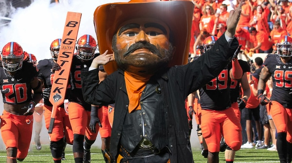 Oklahoma State's uniforms against the Sooners