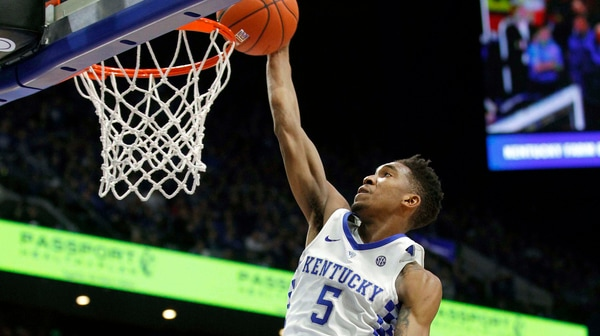 DI Men's Basketball: Kentucky defeats Texas A&M 100-58