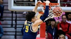 DI Men's Basketball: Michigan defeats Indiana