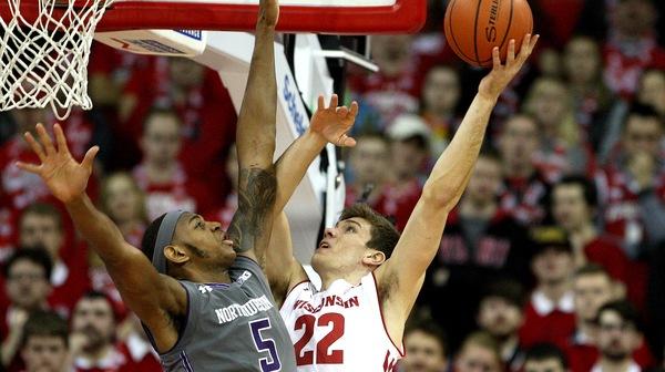 DI Men's Basketball: Northwestern upsets Wisconsin 66-59