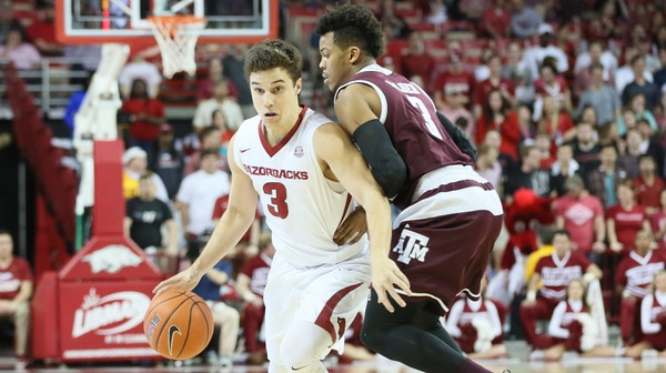 DI Men's Basketball: Arkansas tops Texas A&M
