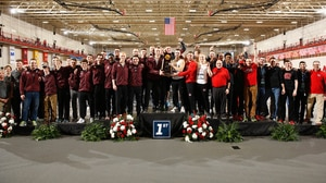 North Central College and the University of Wisconsin-La Crosse share the 2017 DIII Indoor Track & Field Championship