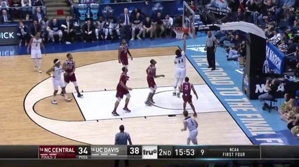 The Aggies with a 9-0 run