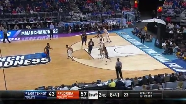 The Gators with a 8-0 run