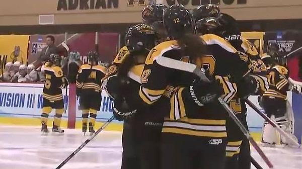 2017 DIII Women's Ice Hockey Semifinal: Gustavus Adolphus vs. Adrian Full Replay