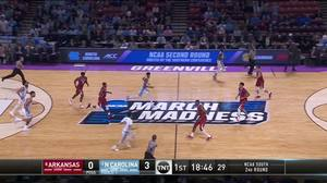 Arkansas vs. North Carolina: 1st Half Highlights