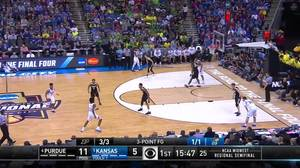 3-pointer by Devonte' Graham