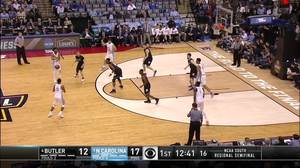Butler vs. North Carolina: 1st Half Highlights