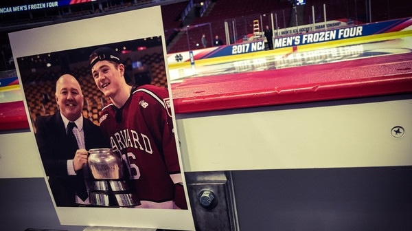 Frozen Four: Harvard's Father-Son Duo