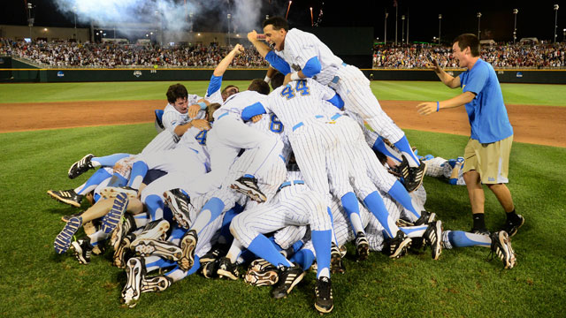 The violent and beautiful CWS dogpile   NCAA.com