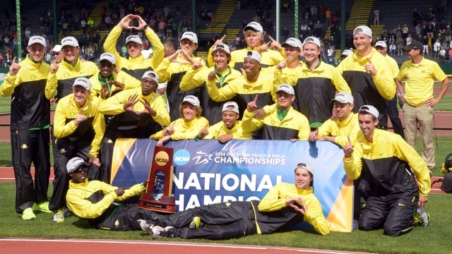 2014 DI Outdoor Track & Field Championships: Oregon wins men's title