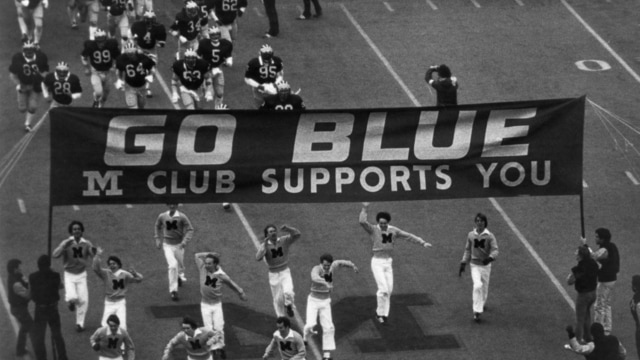 Traditions: Michigan's Go Blue sign