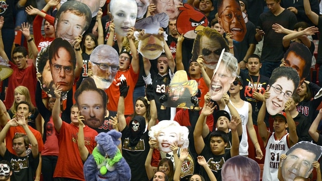 Traditions: San Diego State's big heads