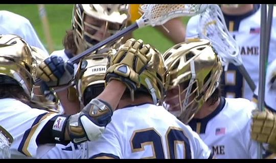 DI Men's Lacrosse: Fighting Irish advance