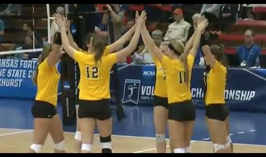 2015 DII Women's Volleyball Quarterfinal Full Replay: Carson-Newman vs. Wayne State