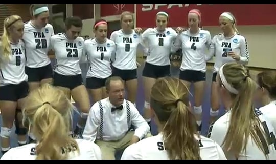 2015 DII Women's Volleyball Semifinal Full Replay:  Palm Beach Atlantic vs. Wayne State