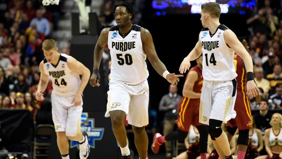 second round purdue outmuscles iowa state