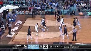 Gonzaga vs. North Carolina: 1st Half Highlights