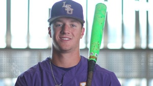 CWS: LSU's Greg Deichmann and his green bat